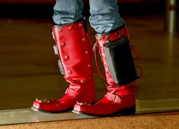 Ars Electronika 2004: Installation Brucknerhaus,Seven Mile Boots, Foto: rubra